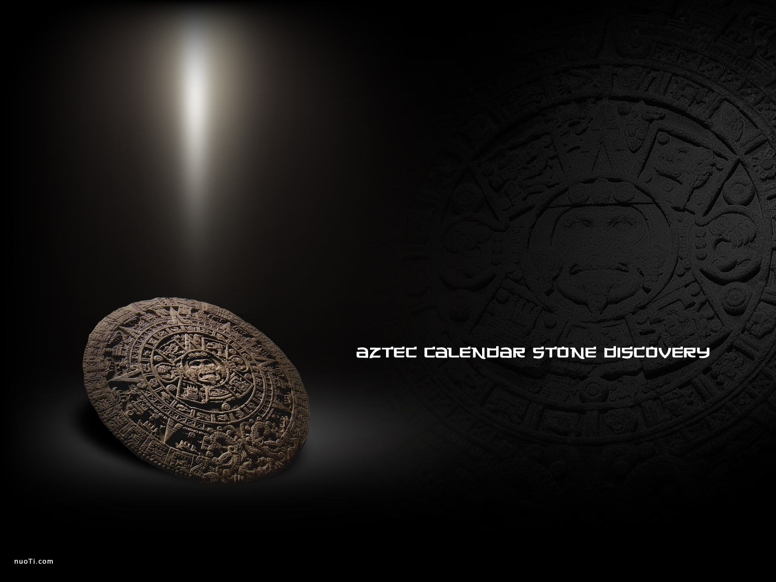 Aztec calendar stone discovery nuoti history wallpaper theme or powerpoint background template this stone art picture toneelgroepblik Gallery