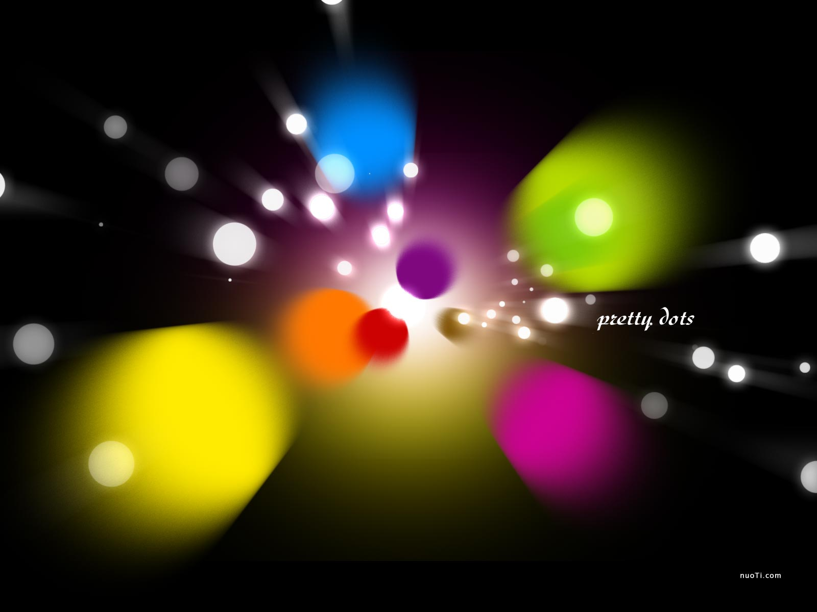 Colorful blasting polka dot. This background clipart looks great for desktop